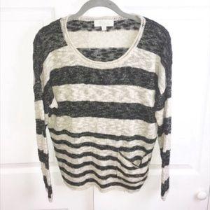 Olive & Oak l Striped Slub Pocket Sweater